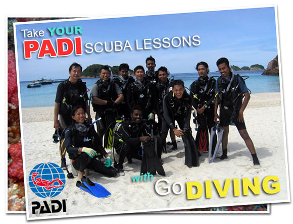 Take Your PADI Scuba Diving Lessons in Malaysia with GODIVING